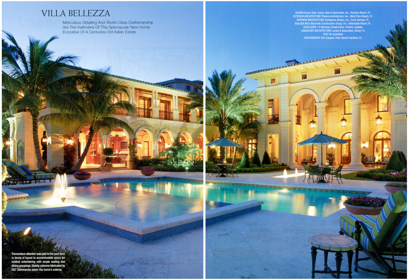 Florida design vol 20 4 villa bellezza for Architect florida
