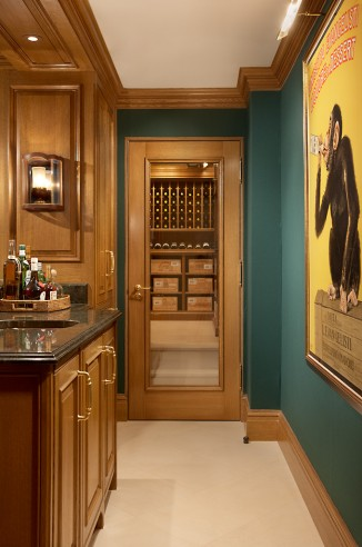 wine room entrance