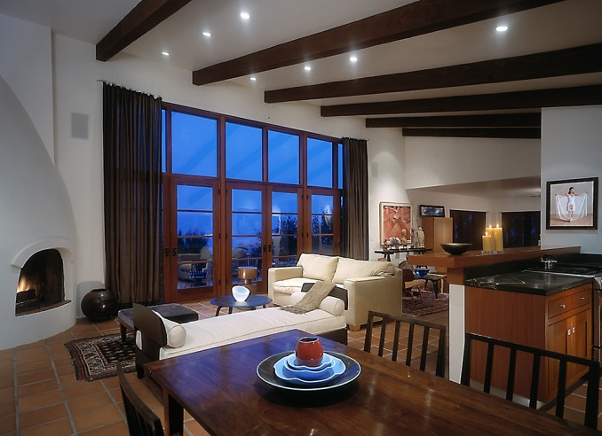 cali living room dusk