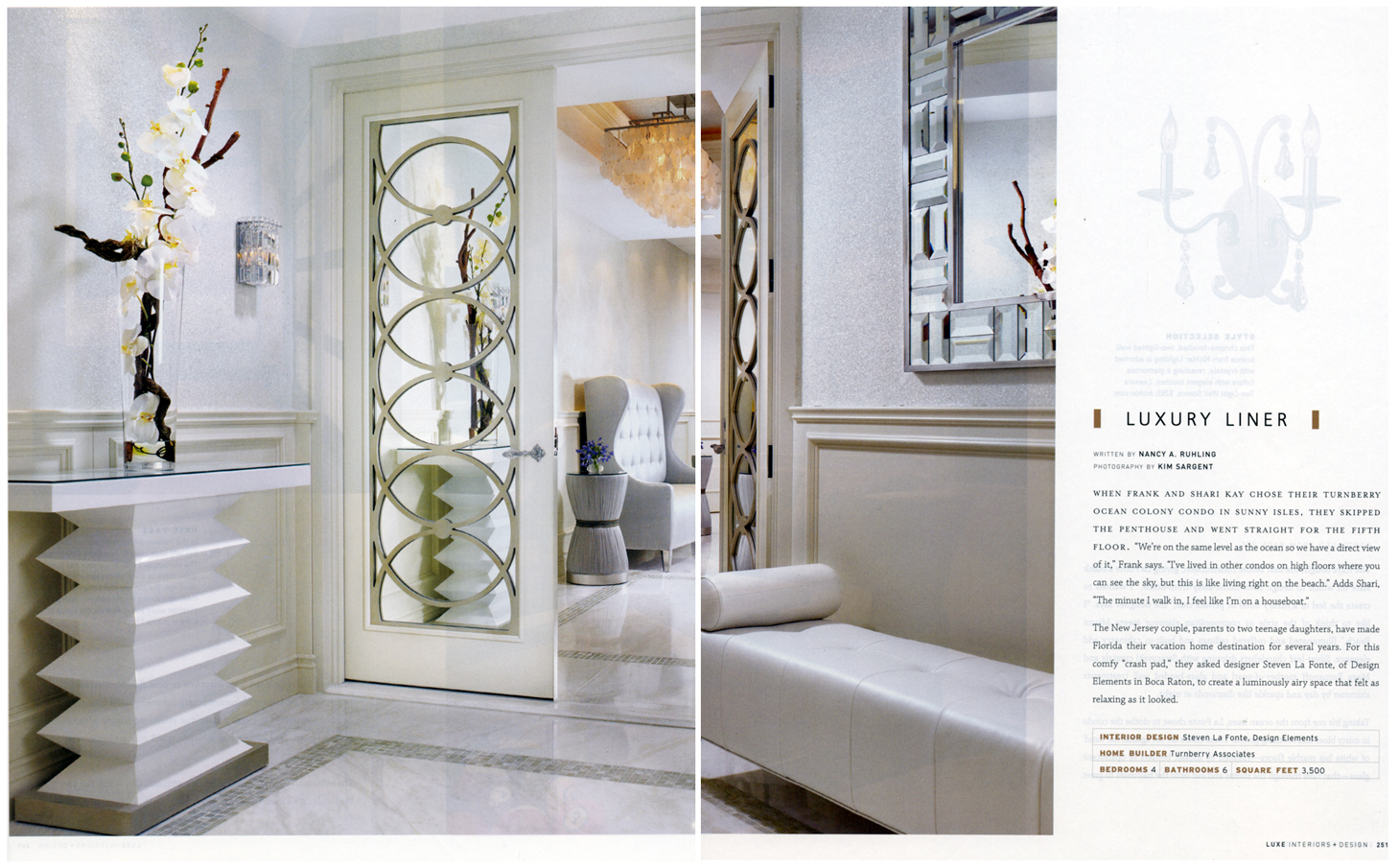 luxe Interiors Design South Florida Luxury Liner
